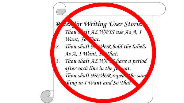 What You Ought to Know about Writing User Stories